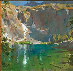 Mike Hernandez     Brainard Lake Big Pines High Sierra CA 6x6 gouache