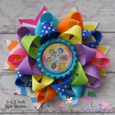 Bubble Guppies Loopy Flower Hair Bow