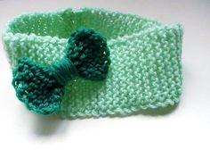 Bandeau bébé en acrylique avec nœud : Mode Bébé par creations-fait-main-divers