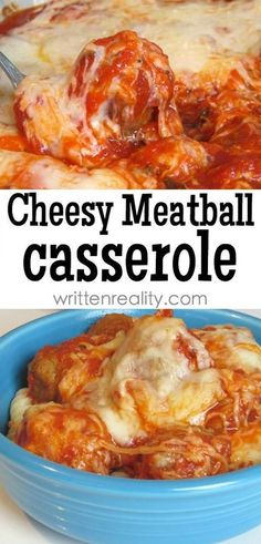 Here's a quick and easy casserole recipe that's filled with meatballs and loads of cheese. With only a few ingredients, just layer, bake, and serve. Try this easy Cheesy Meatball Casserole for dinner tonight - Cheesy Meatball Casserole recipe Meatball Recipes, Beef Recipes, Cooking Recipes, Healthy Recipes, Kraft Recipes, Chicken Recipes, Healthy Food, Meatball Subs, Casserole Recipes