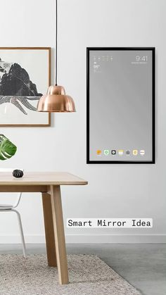 Home Office Decor, Home Decor Bedroom, Room Decor, Smart Furniture, Home Decor Furniture, Interior Design Tips, Bathroom Interior Design, Smart Mirror Diy, Projets Raspberry Pi