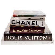 Iconic designer coffee table books.