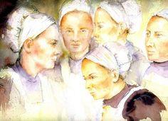 les bretonnes n°2 - Painting, 31x41 cm ©2007 par Brigitte Klein - Peinture, Huile