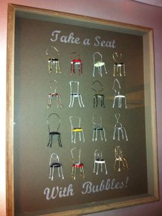 Cute wall art made from champagne cork cages.