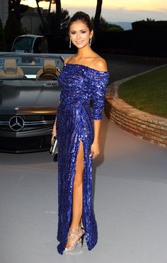 Nina Dobrev in Elie Saab. Love her and her fantastic dress