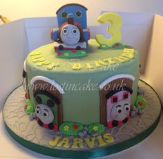 Thomas The Tank Engine Themed Cake