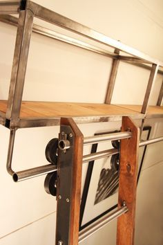 Image result for locking rolling ladder library ladder