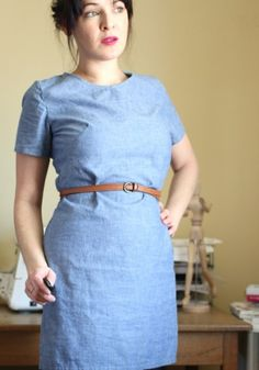 """Brenna is calling this awesome chambray dress a """"failure"""" - we think it's anything but #sewing #makerbabe #mccalls"""