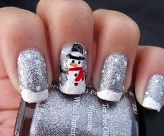 Wintry nails :)