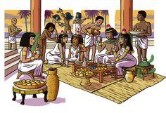 Fête égyptienne pendant l'Ancien Empire