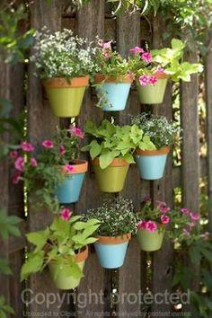 boho+flower+pots | Hanging flower pot on fences