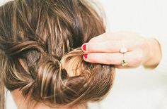 Messy updo's are the key to getting through bad hair days.