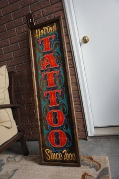 One of a kind Artwork TATTOO, sign hand painted in the good old US of A by…