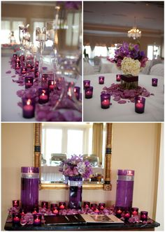 Purple candles....pretty but imagine this in red too