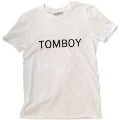 Tomboy T-Shirt Tee Slogan Gift for Her Birthday Gift Idea Womens... (75 RON) ❤ liked on Polyvore featuring tops, t-shirts, shirts, tees, light yellow, women's clothing, slogan t shirts, ribbed t shirt, print shirts and birthday tee