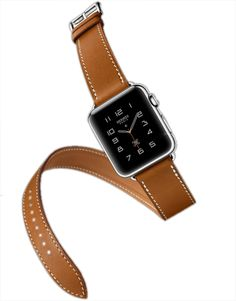 Apple Watch Band, WAPAG Double Tour Genuine Leather, Sport Style Replacement Band Wrist Bracelet Strap for Apple iWatch