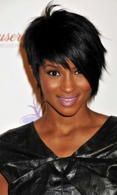Ciara Creates Her Own Version Of The Pixie Crop With A Side-Swept Asymmetrical Hairstyle, 2009