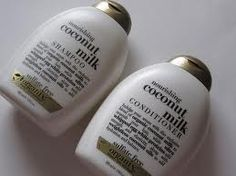 Nourishing Coconut Milk Shampoo and Conditioner by Organix.  These do wonderful things for my hair.  And I love that they're paraben and sulfate free! ($6.99 each)
