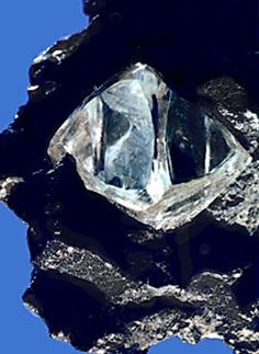 "Diamond. ""The king of all stones."" A small piece of rough ..."