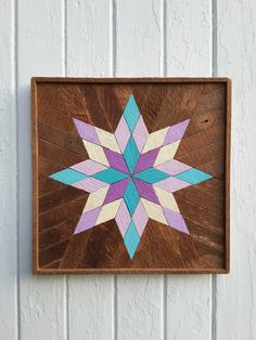Reclaimed Wood Wall Art Wall Decor Lath Geometric by PastReclaimed