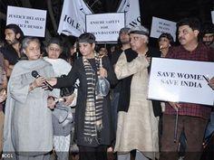 Ranveer Singh, Jaya Bachchan, Shabana Azmi and Javed Akhtar during the peace march for the Delhi gang-rape victim