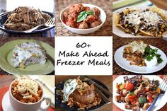 Barefeet In The Kitchen: 60+ Make-Ahead Freezer Meals I'm soooo doing this! There are tons of great recipes on this website, and she shares how to prepare it ahead and freeze it. GREAT!