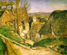 House Of The Hanged Man by Paul Cezanne (1873). One of the first three paintings that Cezanne exhibited with the Impressionists in 1874 it has the distinction of being the first painting Cezanne ever sold. Like Gauguin, Cezanne is now regarded as a post impressionist but during his life time he, as others did,  considered himself an Impressionist.