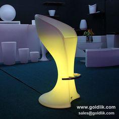 led nightclub bar stool shirt chair,LED lighted Bar Chair,led bar glow furniture http://goldlik.com/product-chairtable-GKL-104SK.html