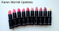 Karen Murrell Non-Toxic Lipsticks Review & Swatches Lipstick Swatches, Lipsticks, Natural Makeup, Natural Beauty, Beauty Review, Organic Beauty, Hair Care, Style, Natural Make Up