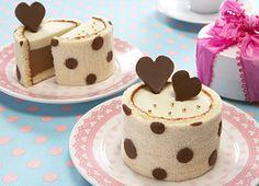 ドットのムースケーキ