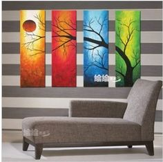 Modern Abstract Huge Canvas Oil Painting:ART TREE (no framed)