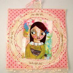 SALEAnnette  Art Quilt by DanielleDaniel on Etsy, $27.00