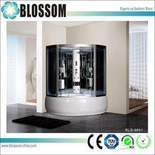 Indoor sauna bath complete steam shower room with whirlpool bathtub