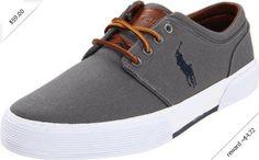 Polo Ralph Lauren Men's Faxon Low Sneaker,Grey,10.5 D US