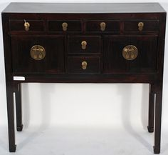 Oriental Style Cabinet (Asian-Inspired Console Table Cabinet)
