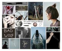 """""""Arya Stark Mood Board"""" by hannahefay ❤ liked on Polyvore featuring art"""