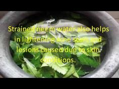 Beauty DIY - * Neem Face Pack * (How To Make Neem Home Remedies ) - YouTube
