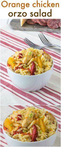 Orange Chicken Orzo