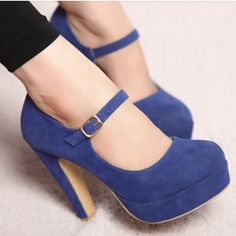 Sexy Platform Ankle High-heeled Pumps A Word Cingulate Women Shoes