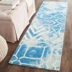 Dip Dye Blue/Ivory 2 ft. 3 in. x 6 ft. Runner