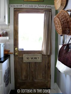 old barn wood door #diy How-to on how to paint a metal or wooden door to look like old, reclaimed barn wood.