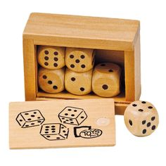 Caja con 6 dados - maoak.com #wood #toys