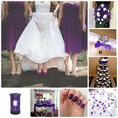 Moonrise Wedding Blog » Blog Archive » Wedding Mood Board – Cadbury Purple