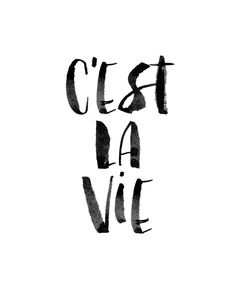 Printable Art Inspirational Print C'est La by LifeAndStylePrint