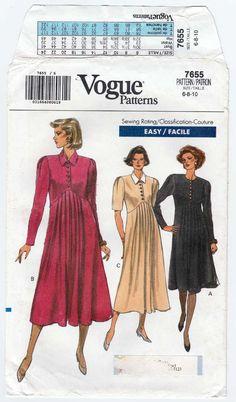 Women's Maternity Dress Sewing Pattern Long or Short Vogue Sewing Patterns, Vintage Sewing Patterns, Maternity Patterns, Dress Sewing, Maternity Dresses, Pleated Skirt, Pattern Dress, Shirt Dress, Couture