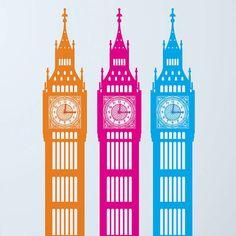 Big Little Ben Wall Sticker Clock