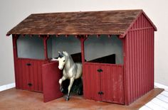Homemade toy Barn for Horses | Google Image Result for ... | Things to make for toy horses...