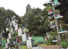Reciclaje de cajas de computador en un colegio del sur de Bogotá