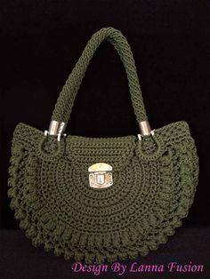 Dark Green Handle bags Green Handbag Green Purse by LannaFusion This bag mannequin can change colour of nylon thread and add a notch. This Pin was discovered by Lin Image gallery – Page 613756255442102758 – Artofit Crochet Handbags, Crochet Purses, Crochet Bags, Green Purse, Green Handbag, Luxury Purses, Knitted Bags, Bead Crochet, Crochet Accessories