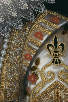 Isabella Clara Eugenia, Frans Pourbus the Younger, detail of the full length portrait in the Royal Collection UK